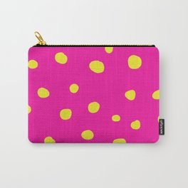 Pink And Yellow Dots Carry-All Pouch