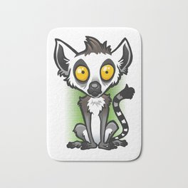 Ring-Tailed Lemur Bath Mat