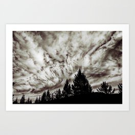 Skies of Jupiter Art Print