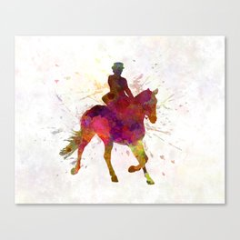 Horse show 03 in watercolor Canvas Print