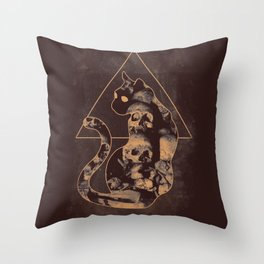 Doom Cat Throw Pillow