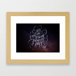 Only with the heart Framed Art Print