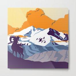 Night Mountains No. 64 Metal Print
