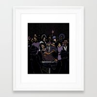 allyson johnson Framed Art Prints featuring Robert Johnson by C.R.ILLUSTRATION
