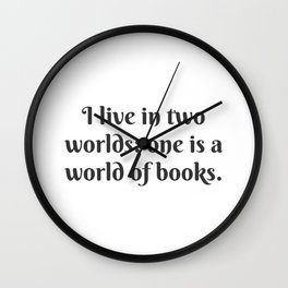 A World of Books Wall Clock