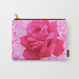 BEAUTIFUL  PINK ROSE SCROLLS GARDEN ART Carry-All Pouch