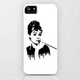 Audrey Hepburn Breakfast At Tiffany's iPhone Case