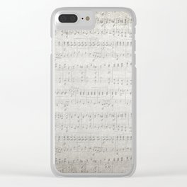 """MUSIC by collection """"Music"""" Clear iPhone Case"""