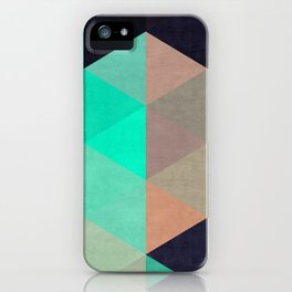 Colorful triangles composition I iPhone Case