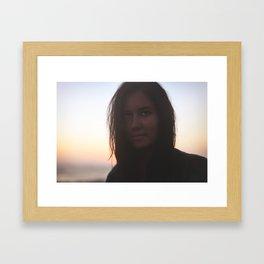 Caught By The Ocean Framed Art Print