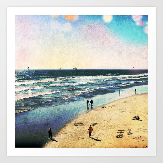 The Beach Art Print