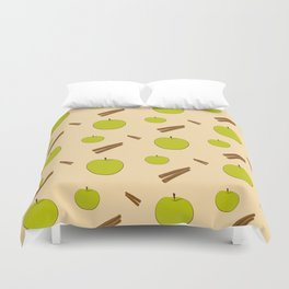 Sweet pattern with apple and cinnamon Duvet Cover