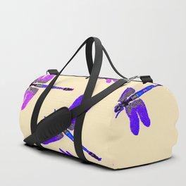 "PURPLE DRAGONFLIES ""SPRING SONG"" ART Duffle Bag"