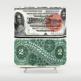 $2 Silver Certificate Shower Curtain