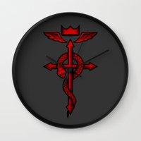 fullmetal Wall Clocks featuring Fullmetal Alchemist Flamel by R-evolution GFX