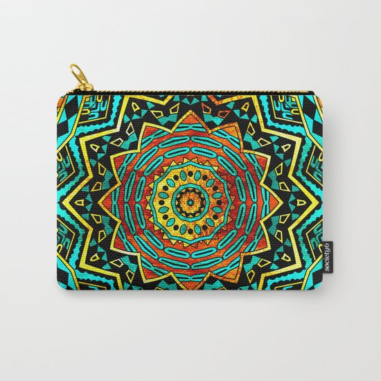 Copper Mandala Carry-All Pouch