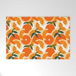 Orange Harvest - White Welcome Mat