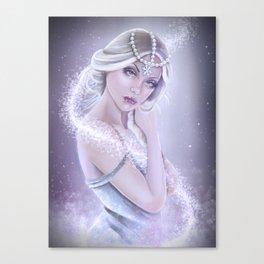 Frozen Elsa realistic pin up Canvas Print