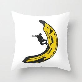 Banana Boarder Throw Pillow