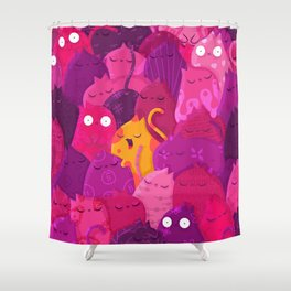 Life in pink Shower Curtain