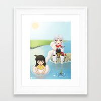 inuyasha Framed Art Prints featuring Inuyasha:  Summer by Kerstie Milana
