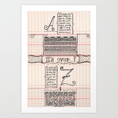 No distance left Art Print