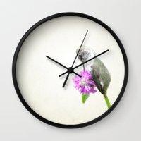 hummingbird Wall Clocks featuring Hummingbird  by Pure Nature Photos