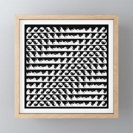 Fluidity | Yin Yang Art Pattern Black & White Framed Mini Art Print