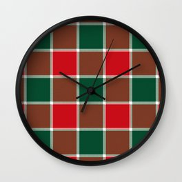 Plaid Festive Wall Clock