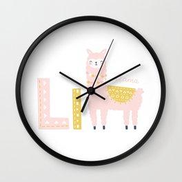 Cute Alphabet Wall Clock