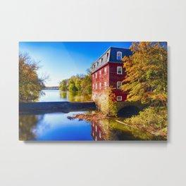 Kingston Mill Fall Scenic Overlooking Lake Carnegie Metal Print