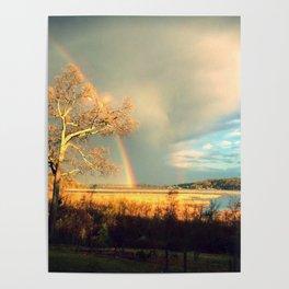 rainbow over the aquia river, virginia Poster