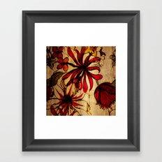 Sketchbook Floral Framed Art Print