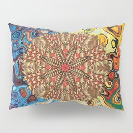 Red Gold Fall Nature Festival Pillow Sham