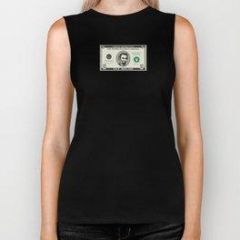 Abraham Lincolns Birthday Five Dollar Bill Biker Tank