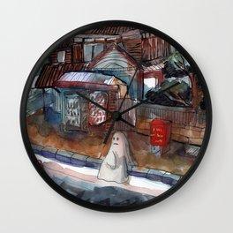 ghost cute watercolor Wall Clock