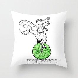 Cocktail Acrobatics Throw Pillow