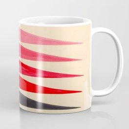 Vintage Scandinavian Red Geometric Triangle Pattern Coffee Mug