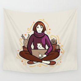 Business cat Wall Tapestry