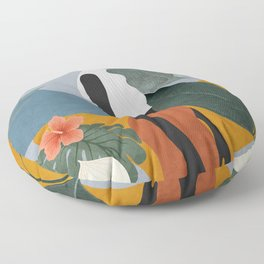 Tropical Girl 5 Floor Pillow