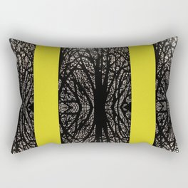 Gothic tree striped pattern mustard yellow Rectangular Pillow