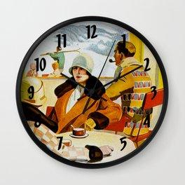 Vintage Wengen Switzerland Travel Wall Clock