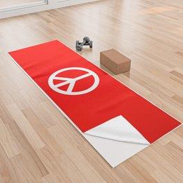 Sketch Peace Sign Yoga Towel