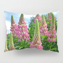 Rose Lupins in the Garden Pillow Sham
