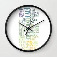 manhattan Wall Clocks featuring Manhattan  by theov6