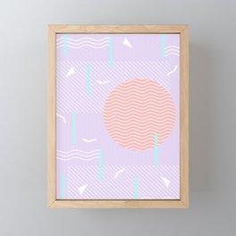 Memphis Summer Lavender Waves Framed Mini Art Print