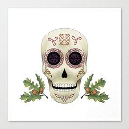 Knotwork Skull Canvas Print