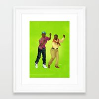 fresh prince Framed Art Prints featuring Fresh Prince by Dave Collinson