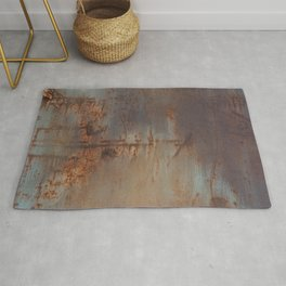 Rust and Pink Watercolor Abstract III Rug