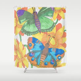 Butterfly2017 Shower Curtain